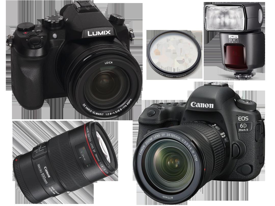 Fotoapparat, Blitz, Filter, Objektiv